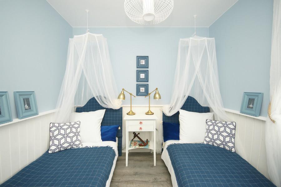 Mała Sypialnia W Stylu Marynistycznym Portal Architekta