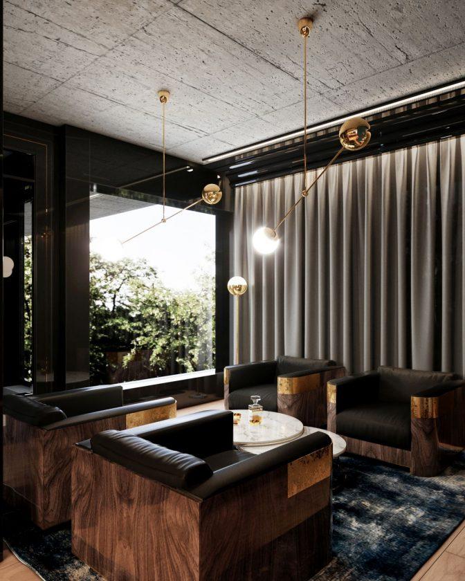 Apartament pokazowy osiedla Awangarda_pokoj kawowy