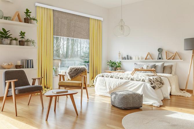 Wnętrza, rolety i zasłony