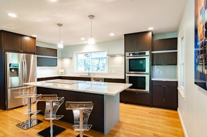 nowoczesna kuchnia, funkcjonalny dobór mebli, sprzęty AGD