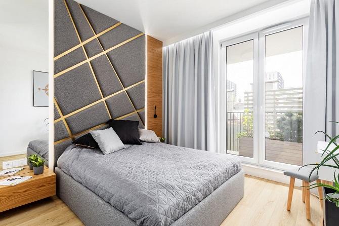 Złoto i miedź w mieszkaniu na warszawskiej Woli
