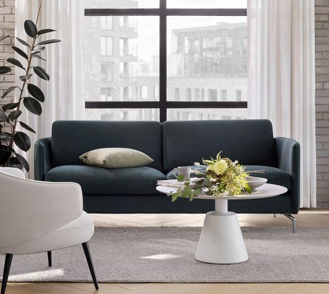 sofa do małych przestrzeni w miejskim stylu