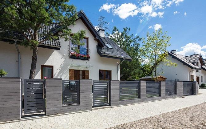 Fontanna, ogrodzenie, grill